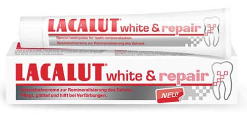 Паста Lacalut White and Repair
